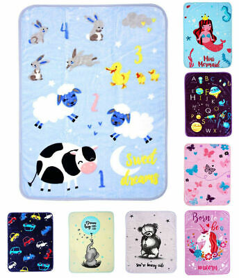 Super Soft BABY BLANKET KIDS CHARACTERS Throw / Blanket / Bed Cover 80 x 110 CM