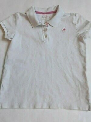 Girls Lilly Pulitzer pique polo shirt size 8 white