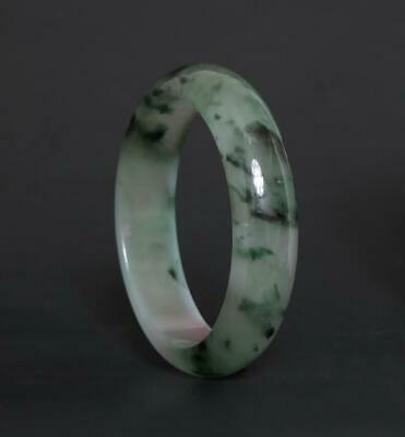 60g Fine Chinese Carved Natural Jadeite Jade Bracelet-56mm