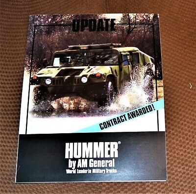 VTG 1983 AM General HUMMER® Brochure Update Contract Awarded