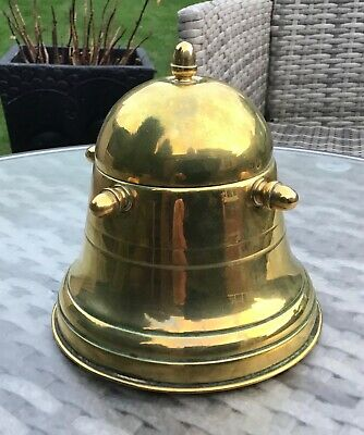 Unusual brass lidded jar container, tea caddy , tobacco? Trench art?