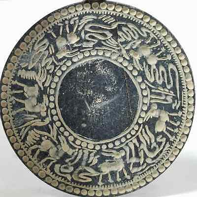 Backtrian Ancient Beautiful Stone Mirror With Different Animals & Snakes