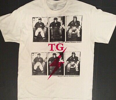 Punk Tshirt Throbbing Gristle Gary Gilmore Electric Chair double print all sizes