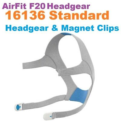 Headgear with Magnet Clips for Resmed AirTouch f2 & Airfit F20  Standard  16136