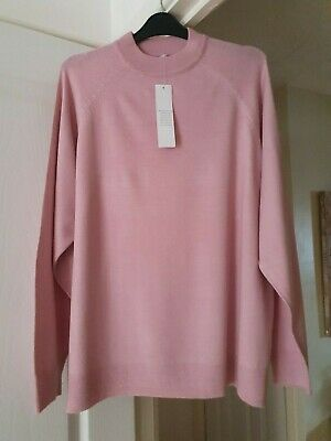 Pretty NOTE Pink Crew Neck Jumper, Thin Knit, Long Sleeves, Size 16/18, NWT