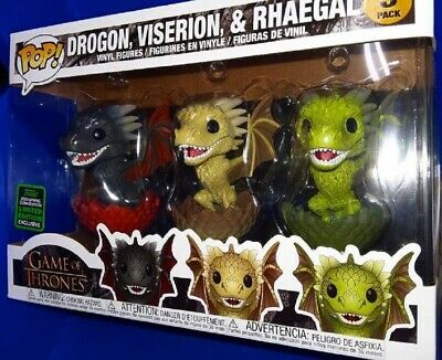 Funko Pop! Game of Thrones: DROGON, VISERION, RHAEGAL 3PK ECCC Shared PREORDER!
