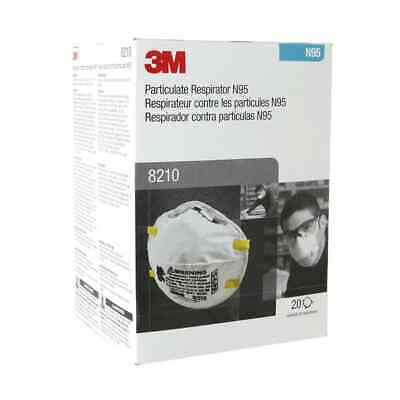 3M 8210 Particulate Respirator Face Mask N95 (Box of 20) Expiration Date 02/2024