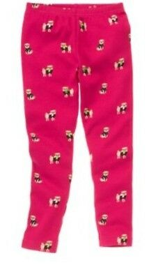 New Gymboree PUPS and KISSES Raspberry Pink Pug Leggings Sizes 4 5