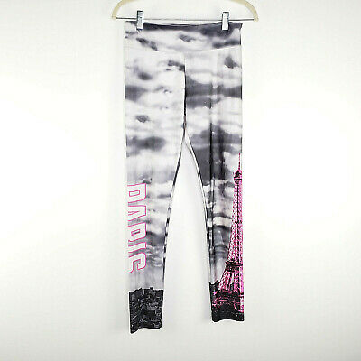 Justice Girls Gray Paris Eiffel Tower Legging Youth  Size 18