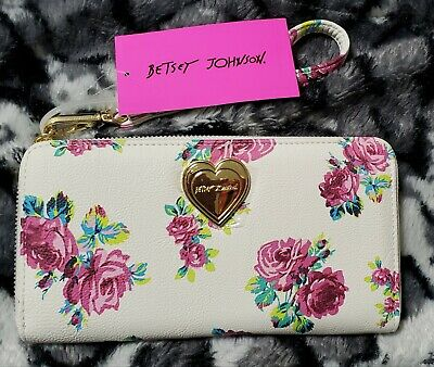 Betsey Johnson Floral Printed Wristlet ~ NWT ~ Retails $68.00