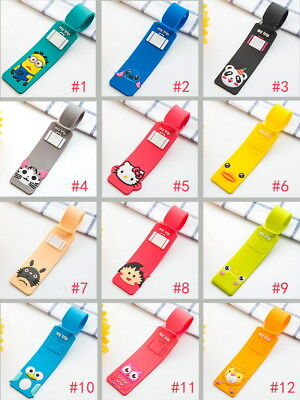 Korean Silicone Cartoon Travel Luggage Tags Suitcase Baggage Labels Name ok
