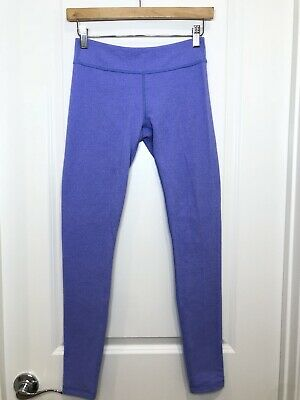 Ivivva Rhythmic Herringbone Purple Heathered Leggings Sz 14