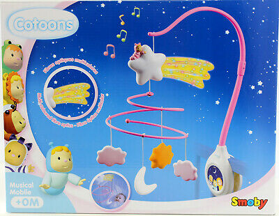 Cotoons Pink Musical Mobile - Bedtime soothing music melody & fairy lights  New