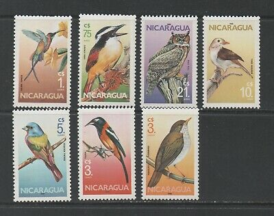 Thematic Stamps Animals - NICARAGUA 1986 BIRDS 2724/30  7v mint