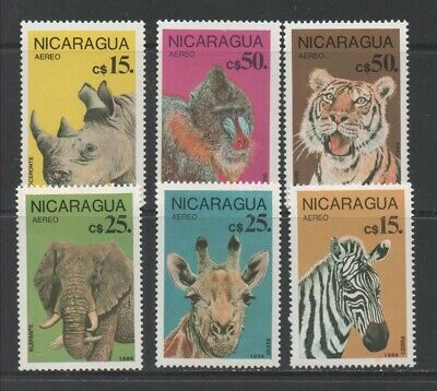 Thematic Stamps Animals - NICARAGUA 1986 ENDANG.ANIMALS 2799/04  6v mint