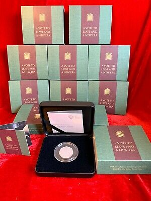 SILVER PROOF BREXIT 50p COIN  Withdrawal from the European Union 2020 Royal Mint