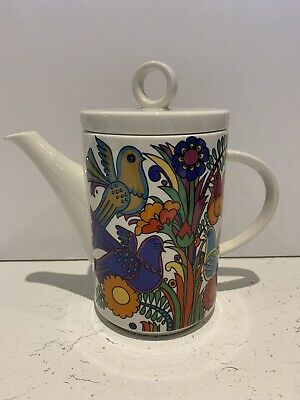 Villeroy & Boch Acapulco Coffee Pot Bright Bold Birds Floral