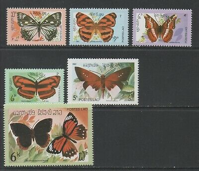 Thematic Stamps Animals - LAOS 1982 BUTTERFLYS 552/7  6v mint