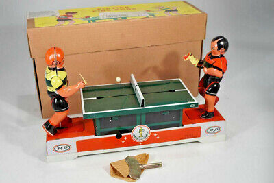 Lagerfund - Blechspielzeug - China MS 358 Playing Ping Pong - Tinplate - boxed