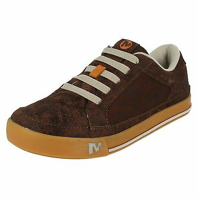 Boys Merrell Sky Jumber Brash Laceup Leather Smart Casual Skating Trainers Shoes