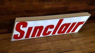 Sinclair lighted sign gas oil Collectable vintage mancave