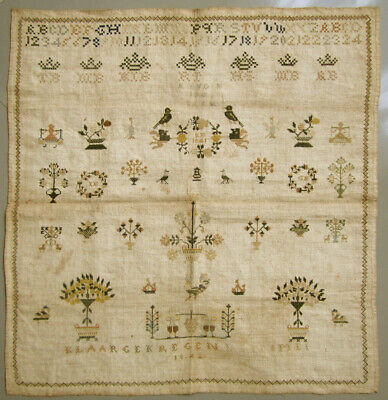 Reproduction Kit~British Antique Sampler~Counted Cross~Taylor 1831 ~ LINEN