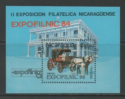 Thematic Stamps Animals - NICARAGUA 1984 EXPOFILNIC MS (HORSE) mint
