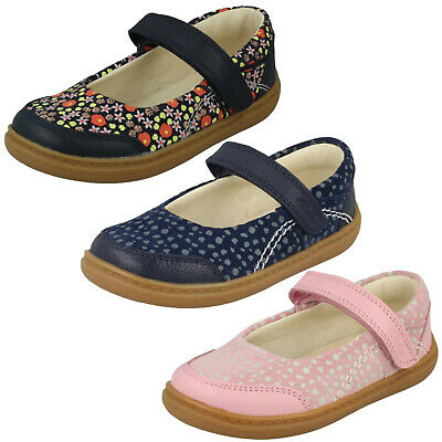 Girls Clarks Flash Stripe T Hook & Loop Toddler Casual Mary Jane Flat Shoes Size