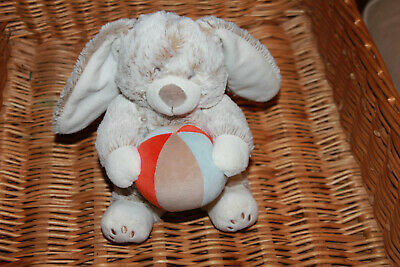 Doudou Tex Lapin  Beige Marron Chine Blanc Ballon Orange Bleu Musical Com Neuf