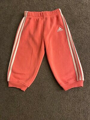 Adidas baby Girls 12-18 Months pink joggers