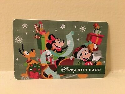 Disney Collectable Gift Card NV Mint Minnie's Christmas Nice List Collectible