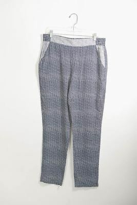 CAbi Medium Strand Pant Multi-Color Navy White Elastic Waist Pockets Casual 5109