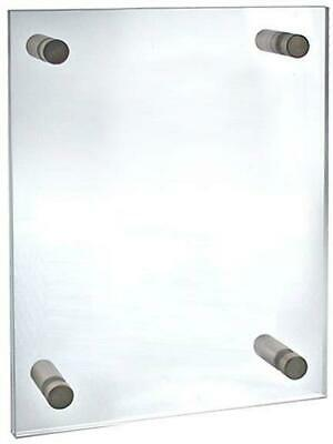 "Azar Displays 105514 Standoff Sign Holder, 8.5"" W x 11"" H"