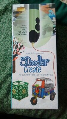 3Doodler Create 3D Printing Pen Set with 50 Plastic Strands Hint of Lime    New