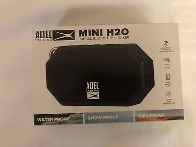 Altec Lansing Mini H20 Portable Bluetooth Speaker - Black loud sport speaker