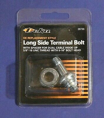 "OEM STLYLE 1GM TYPE SIDE POST BATTERY CABLE RETAINER BOLT,3//8/""THREAD 5//16/""HEX"