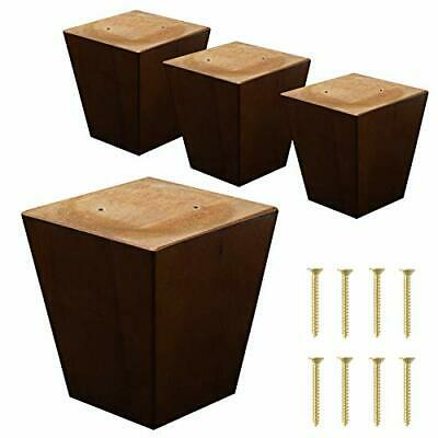 S18 Furniture Legs Carved Candle Feet Couch Chair Ottoman Sofa Walnut Finish 4