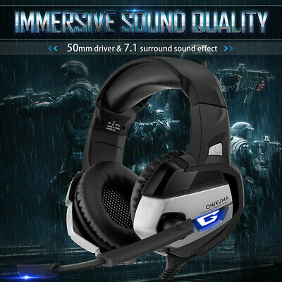 2019 ONIKUMA Gaming Headset MIC LED Headphones for PC SW Laptop Xbox One