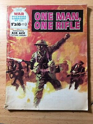 "Fleetway War Picture Library Comic # 639 From 1971. ""One Man, One Rifle"""