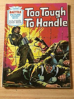 "Fleetway Battle Picture Library Comic # 698 From 1973. ""Too Tough to Handle"""