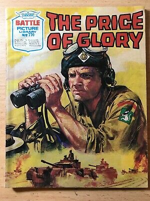 "Fleetway Battle Picture Library Comic # 770 From 1973. ""The Price of Glory"""