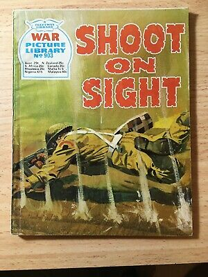 "Fleetway War Picture Library Comic # 903 From 1973. ""Shoot on Sight"""