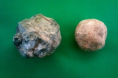 Slingstone from Mount Masada Israel. basalt stone the Romans.The second defendes