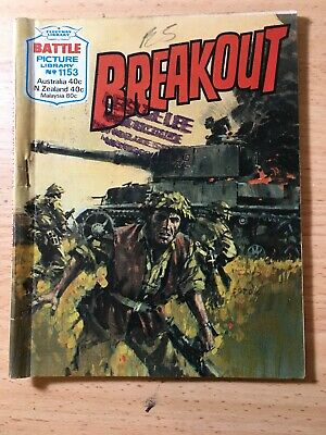 "Fleetway Battle Picture Library Comic # 1153 From 1977. ""Breakout"""