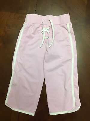 Next Little Girls Tie Front Jogging Trousers  Age 3 Years Ex Cond