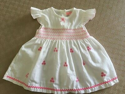 Baby Girls Beautiful Cap Sleeved  Dress From Baby C Age 6-12 Months Ex Cond