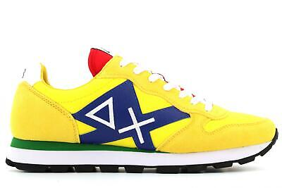 SCARPE SUN68 TOM LOGO PATCH FLAG Sneakers Nuove GRI57868