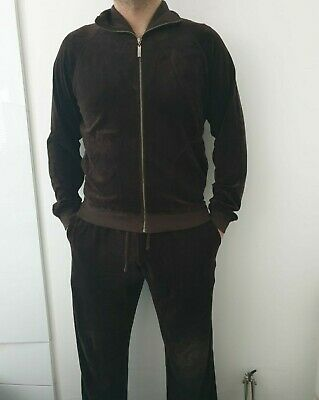 Men's Luxury Brown Velour Tracksuit Juicy Couture Limited Edition*