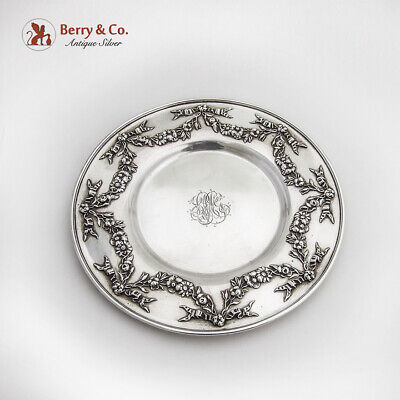 Whiting Underplate Floral Swag Border Sterling Silver 1910 Mono LMG