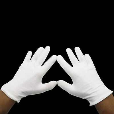 Lightweight White Inspection Cotton Work High Stretch Gloves for Coin Jewe xfNMU